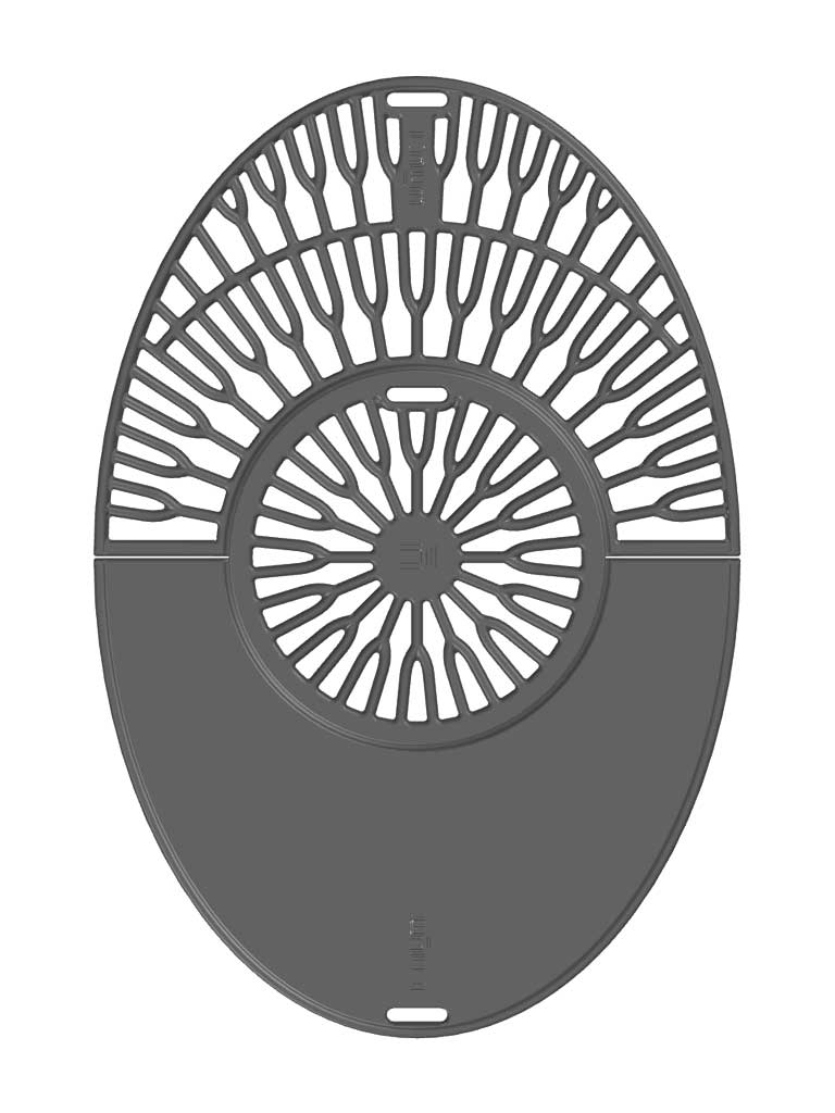 Grillrost mit Grillplatte Modell Taran