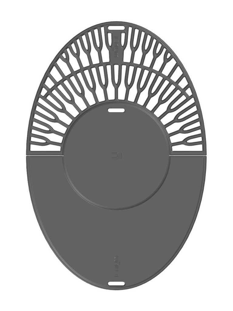 Gussplatte Grill mit Grillrost Modell Taran